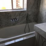 Marble Shower Room and Bath Renovation in South Kensington 1
