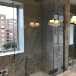 Marble Shower Room and Bath Renovation in South Kensington 3