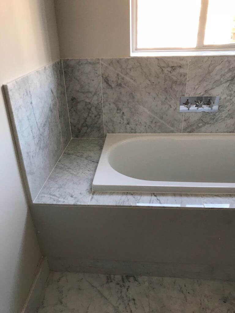 Marble Shower Room and Bath Renovation in South Kensington 2