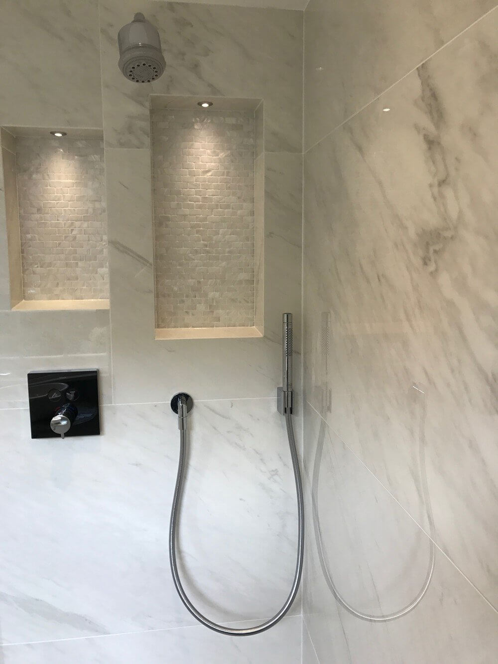 Marble Shower Room Installation in South West London 1