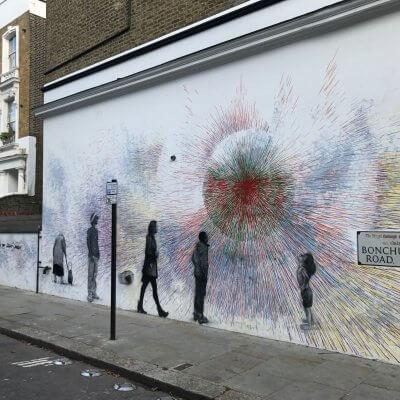 Street Art Painting in Ladbroke Grove