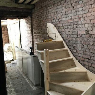 Original Staircase With New Understair Storage in Queen's Park